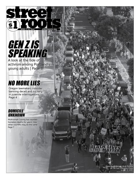 April 7, 2021, cover of Street Roots