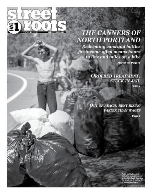 Cover of Street Roots' July 21, 2021, issue
