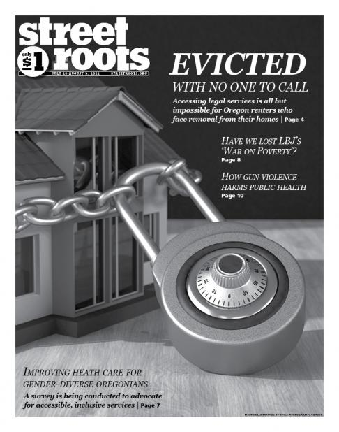 Cover of Street Roots' July 28, 2021, issue