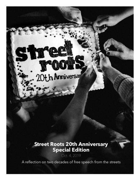 Street Roots 20th Anniversary Special Edition cover, Oct. 4, 2019