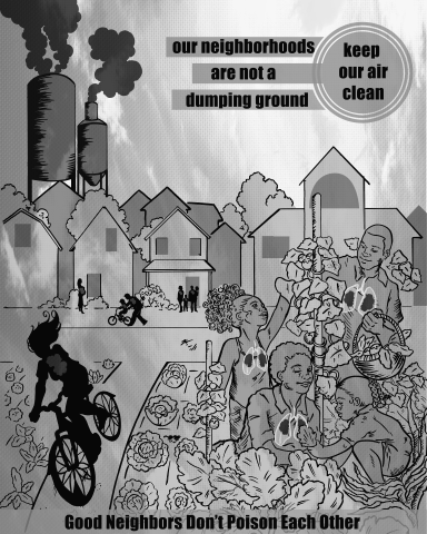 Air quality illustration