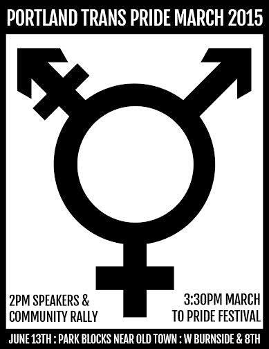 Portland Trans Pride March 2015 flyer
