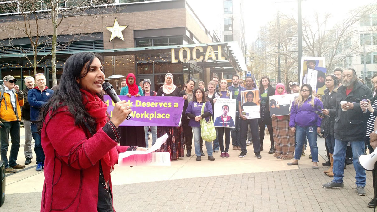 Kshama Sawant speaks at rally