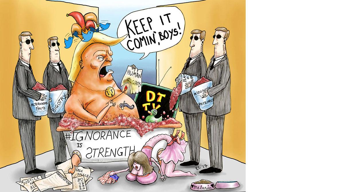 Sheeptoast editorial cartoon: The Real Donald